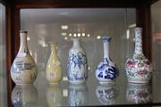 Sale 7982 - Lot 76 - Chinese Polychrome & Blue & White Vases