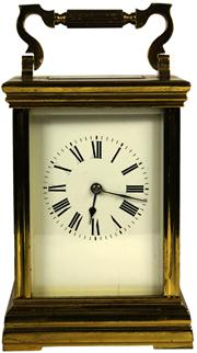 Sale 8065 - Lot 41 - French Brass Carriage Clock