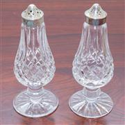 Sale 8308A - Lot 58 - A pair of Irish Waterford lead crystal salt and pepper castors. Ht: 16cm