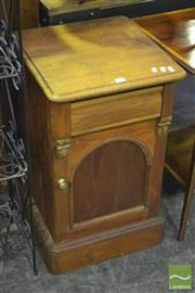 Sale 8338 - Lot 1436 - Timber Bedside with Single Drawer and Door