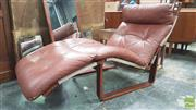 Sale 8383 - Lot 1043 - Tessa Chaise in Brown Leather