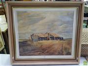 Sale 8619 - Lot 2083 - Collin Sykes - The Abandoned Farm House, oil on board, 50 x 40cm, signed lower left