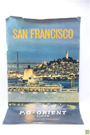 Sale 8644 - Lot 60 - 1960s Airline & Shipping Travel Posters (3)