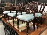 Sale 8839 - Lot 1355 - Set of 12 Reproduction Mahogany Dining Chairs inc 2 Carvers