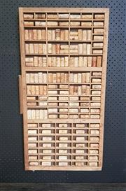 Sale 8959 - Lot 1075 - Mounted Corks Wall Hanging (H:82 x W:42cm)