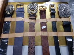Sale 9176 - Lot 2286 - Collection of belts and buckles
