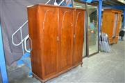 Sale 7987A - Lot 1128 - Timber Wardrobe with 3 Drawers