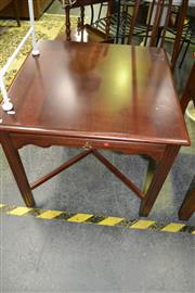 Sale 8093 - Lot 1040 - Side Table w Slide on Stretcher Base