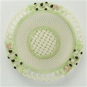 Sale 8413 - Lot 13 - Belleek Painted Lattice Basket