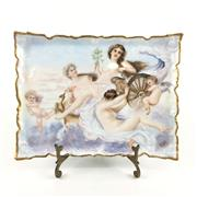 Sale 8545N - Lot 73 - Bavarian Rectangular Plate, signed (W: 27cm)