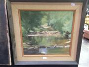 Sale 8663 - Lot 2029 - Artist Unknown - Forrest River Scene, oil on board, 48.5 x 58.5cm (frame size), unsigned