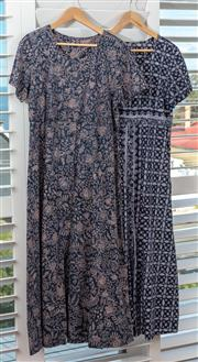 Sale 9023H - Lot 91 - Two pool dresses/kaftans in printed cotton design both size L