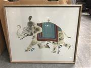 Sale 9033 - Lot 2075 - Daya Decorated Indian Elephant gouache and watercolour, 54 x 64cm, signed -