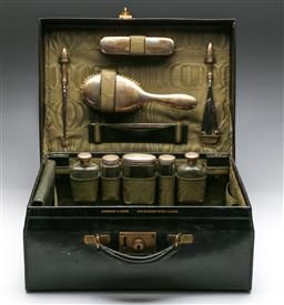Sale 9175 - Lot 18 - An Edwards & Sons Fitted Travelling Case (H:16.5cm W:41cm D:32cm)