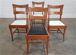 Sale 9188 - Lot 1159 - Set of four timber dining chairs by Edward Hill (h:84 x w:44 x d:44cm)