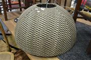Sale 8161 - Lot 1034 - Black And White Woven Cross Hatch Ceiling Light
