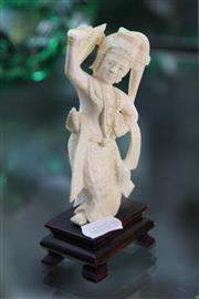 Sale 8244 - Lot 35 - Ivory Carved Figure of a Thai Dancing Buddha