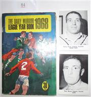 Sale 8404S - Lot 84 - Other Daily Mirror Cards 1967 – Monty Porter (Cronulla), Tony Brown (Penrith); plus Daily Mirror Year Book 1968, editor Frank Moore,...