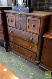 Sale 8520 - Lot 1013 - Late C19th Cedar Chest of Seven Drawers with Rounded Corners and Plinth Base.