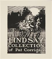 Sale 8555A - Lot 5135 - Peter Shearwin Chapman (1937 - ) - Bookplate for Pat Corrigan (The Lindsay Collection) 10.5 x 8cm