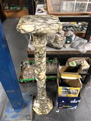 Sale 8744 - Lot 1086 - Grey/White Marble Stand (574)