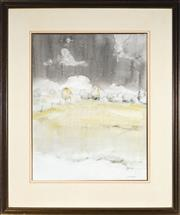 Sale 9013A - Lot 5048 - John Caldwell (1942 - ) - Winter Morning, O'Connell 64 x 50cm (frame: 95 x 79 x 2 cm)