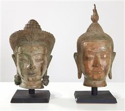 Sale 9210 - Lot 1062 - Pair of Buddha figurines on stands (h50cm)