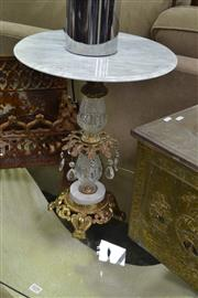 Sale 8138 - Lot 930 - Marble Top Wine Table