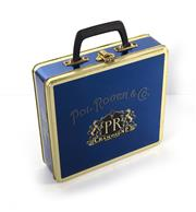 Sale 8224A - Lot 23 - A French painted metal lunch box by 'Pol Roger champagne', 24 x 26 cm