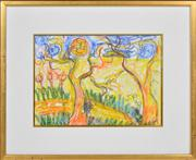 Sale 8374 - Lot 546 - John Perceval (1923 - 2000) - Untitled (Studley Park), 1990 25.5 x 36cm