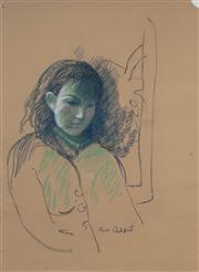 Sale 8433 - Lot 2075 - Paul Delprat (1942 - ) (7 works) - Landscape and Portrait Drawings various sizes