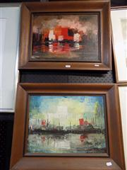 Sale 8429A - Lot 2040 - Martin Ocana (2 works) - Malaga, oil on canvas on board, each 30 x 42cm, each signed lower right