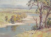 Sale 8526 - Lot 597 - Alfred E. Sutton (active 1930s - 40s) - Hawkesbury River 26.5 x 36cm