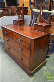 Sale 8520 - Lot 1050 - Victorian Mahogany Dressing Chest with Two Trinket and Four Larger Drawers on Plinth Base