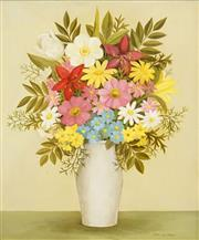 Sale 8538 - Lot 517 - Frances Jones (1923 - 1999) - Still Life - Flowers 44.5 x 36.5cm