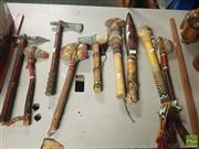 Sale 8548 - Lot 2266 - Collection of Decorative Display Stone Axes, Various Cultures incl American