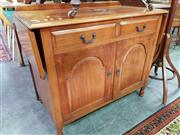 Sale 8570 - Lot 1085 - Timber Sideboard with Drop Sides