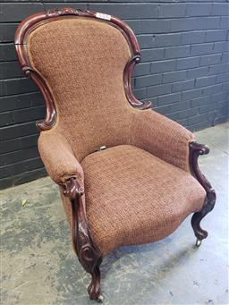 Sale 9051 - Lot 1016 - Victorian Mahogany Grandfather Chair