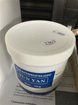 Sale 9106 - Lot 2363 - Tub of Stone Waterproofing Solution with Instructions