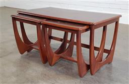 Sale 9188 - Lot 1244 - Timber nest of three side tables