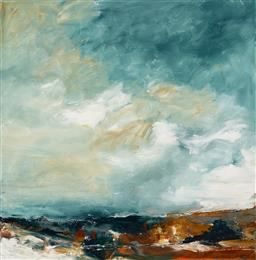 Sale 9214 - Lot 585 - CHERYL CUSICK Big Sky acrylic on canvas 102 x 101 cm signed lower right, titled verso