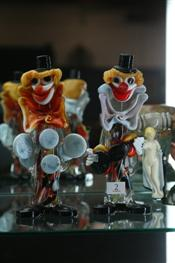 Sale 7875 - Lot 2 - Murano Pair of Clown Figures
