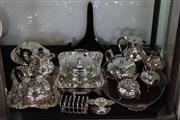 Sale 8160 - Lot 77 - Silver Plated Wares incl Early Warming Dish, Jugs and Teapots