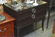 Sale 8307 - Lot 1020 - Pair Of Modern Black Two Drawer Hall Tables