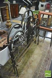 Sale 8392 - Lot 1033 - Cast Iron Bed Ends