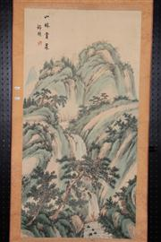 Sale 8445 - Lot 87 - Chinese Landscape Scroll