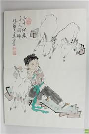 Sale 8568 - Lot 87 - Folio Containing Chinese Watercolours