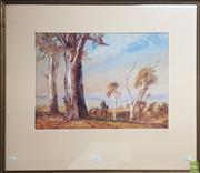 Sale 8609 - Lot 2009 - Henry Martin (1891 - 1944) - Country Track, watercolour 38x 52cm, signed lower left
