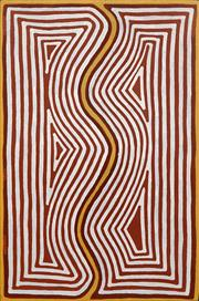 Sale 8647 - Lot 532 - Mick Namarari Tjapaltjarri (1926 - 1998) - Rock Wallaby 1994 91 x 61cm (stretched and ready to hang)