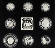 Sale 8679 - Lot 337 - MASTERPIECES IN SILVER 1991 JUBILEE PROOF COIN SET; comprising of sterling silver versions of all 8 decimal coins and a numbered sil...